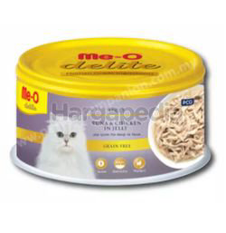Me-O Delite Canned Tuna and Chicken in Jelly 80gm