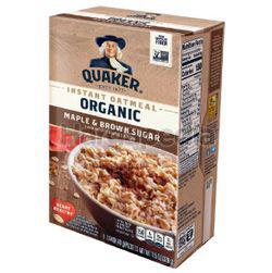 Quaker Organic Instant Oatmeal Maple Brown Sugar 328gm