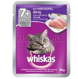 Whiskas 7+ Pouch Cat Food Mackerel 80gm