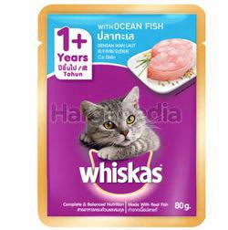 Whiskas 1+ Pouch Cat Food Ocean Fish 80gm