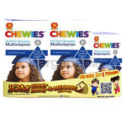 Chewies Multivitamin with Taurine 2x60s +30s