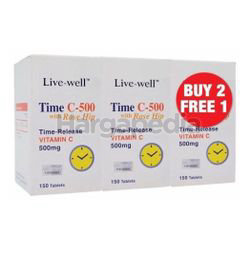 Live-Well Time C-500mg 2x150s + 150s