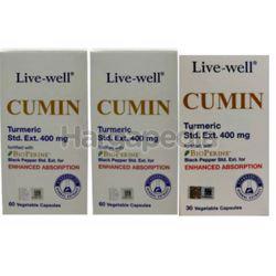 Live-Well Cumin 400mg 2x60s+30s
