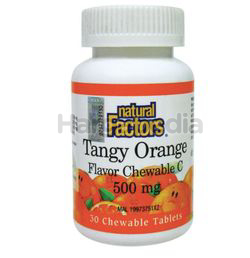 Natural Factors Tangy Orange 500mg 30s