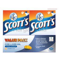 Scott's Cod Liver Oil Capsules 2x100s