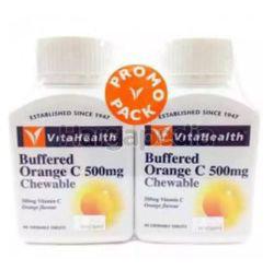 VitaHealth Buffered Orange C Chewable 500mg 2x90s