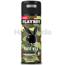 Playboy Men Deodorant Spray Wild Body 150ml