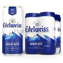 Edelweiss Beer Can 4x330ml