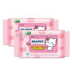 Diapex Soft Baby Wipes 2x30s