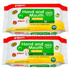 Pigeon Hand & Mouth Wipes 2x20s