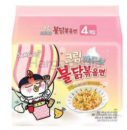 Samyang Hot Chicken Ramen Creamy Carbonara 4x140gm