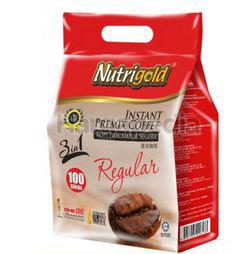 Nutrigold 3in1 Instant Coffee Regular 100x20gm