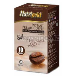 Nutrigold 2in1 Instant Coffee No Sugar Added 10x15gm