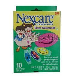 3M Nexcare Tatoo Waterproof Bandages 10s