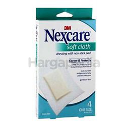 3M Nexcare Waterproof Soft Cloth Roll Dressing 4s