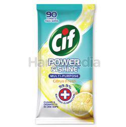 CIF Power Shine Multi Purpose Citrus Fresh Wipes 90s