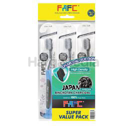 FAFC Antibacterial Charcoal Suction Toothbrush 3s