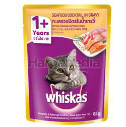 Whiskas 1+ Pouch Cat Food Seafood Cocktails 80gm