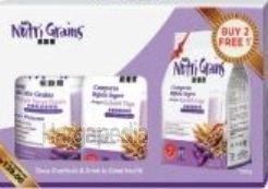 NH Nutri Grains Instant Multi Mix Grains  2x1kg + Refill 500gm