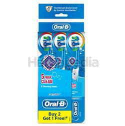 Oral-B Complete 5 Way Clean Toothbrush Medium 2s+1s