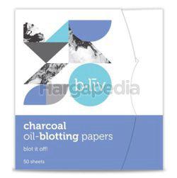 b.liv Oil Blotting Paper Charcoal 50s