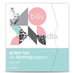 b.liv Oil Blotting Paper Green Tea 50s
