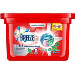 Breeze 3in1 Capsule Detergent Fresh Eucalyptus 18s