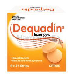 Dequadin Citrus Lozenge 4x6s