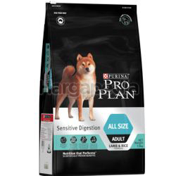 Purina Pro Plan All Size Adult Sensitive Digestion Dry Dog Food with Optidigest 12kg