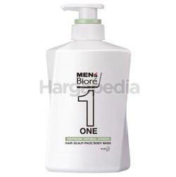 Biore Men One Refresh Herbal Hair/ Scalp/ Face/ Body Wash 480ml