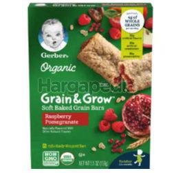 Gerber Organic Grain & Grow Soft Baked Grain Bars, Raspberry Pomegranate 156gm