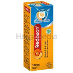 Redoxon Triple Action Vitamin C,D & Zinc Effervescent Orange 10s