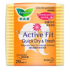 Laurier Pantyliner Active Fit Fruity Fresh 20s