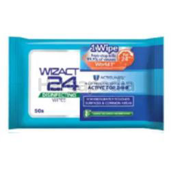 Wizact 24 Disinfectant Wipes 50s