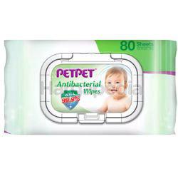 Pet Pet Antibacterial Wipes 80s