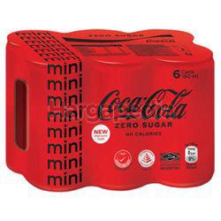 Coca-Cola Zero Sugar Mini Can 6x180ml