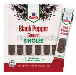 McCormick Black Pepper Ground Singles 3x12 36gm