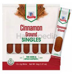 McCormick Cinnamon Ground Singles 3x12 36gm