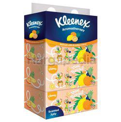 Kleenex 3ply Facial Tissue Box Scented Brazilian Citrus 4x90s