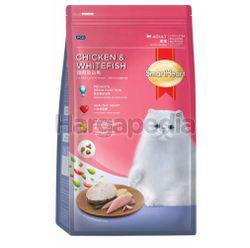 Smart Heart Adult Cat Food Chicken & White Fish 1.2kg