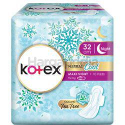 Kotex Herbal Cool Maxi Night Wing 32cm 10s