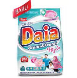 Daia Powder Detergent Pouch Clean & Fresh Hijab 850gm