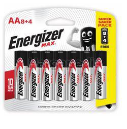 Energizer Max Alkaline Battery 8AA FOC 4s
