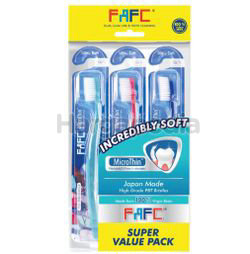FAFC Incredibly Soft Micro thin Toothbrush 3s