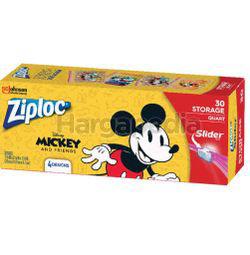 Ziploc Disney Mickey Storage Quart 30s