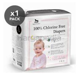 Applecrumby Chlorine Free Premium Overnight Tape Diapers L19