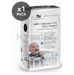 Applecrumby Chlorine Free Slim Dry EasyDay Tape Diapers M15