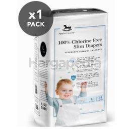 Applecrumby Chlorine Free Slim Dry EasyDay Tape Diapers L14