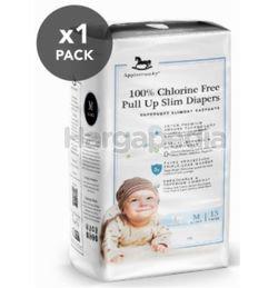 Applecrumby Chlorine Free Slim Dry EasyDay Pull Up Slim Diapers M15