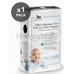 Applecrumby Chlorine Free Slim Dry EasyDay Pull Up Slim Diapers L14